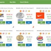 Gift-Card Friendly Penny Auction Site