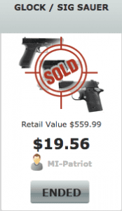 Glock Gun Auction Selling Price on Bidgunner.com