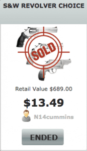 Gun Auction Selling Price on Bidgunner.com