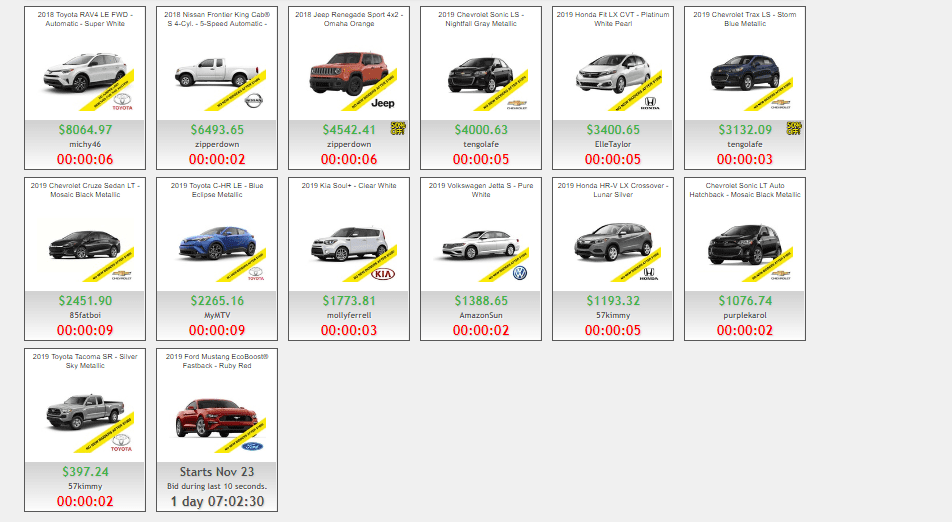 Car Auctions on DealDash.com