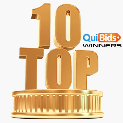 Top-10 QuiBids Winners